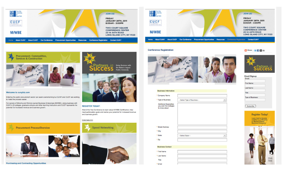 CUNY - Partners in Success web site