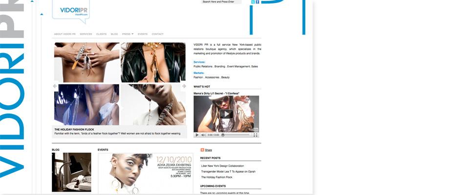 Vidori PR Website